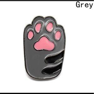 Coming soon! Rare grey paw Pin    Brooch 💜